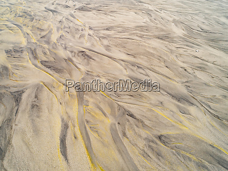 aerial abstract view of plateau in