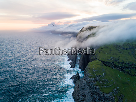 scenic aerial view of a cliff