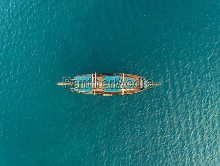 aerial view of sailboat in the