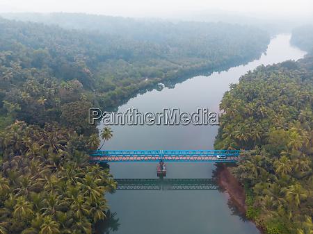 aerial view of sadolxem bridge over