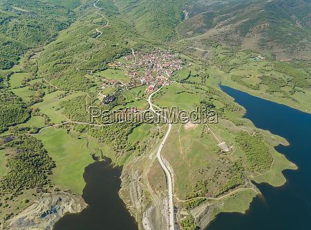 aerial view of town karditsa greece