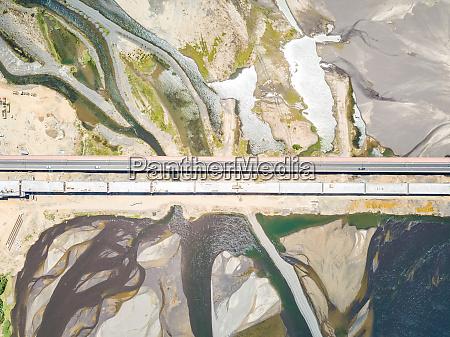 aerial view of puente chacabuco bridge
