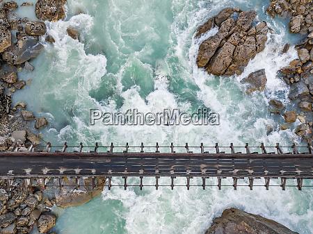 aerial view of bridge over rio