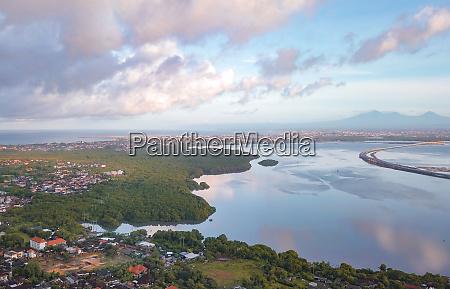 aerial view of a scenic coastline