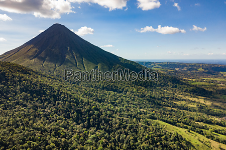 aerial view of chato volcano mountain