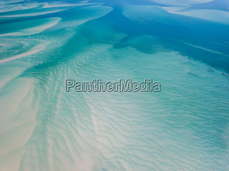aerial abstract view of shoals and