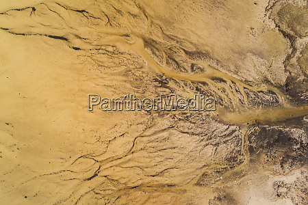 abstract aerial view of algae bloom