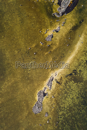 abstract aerial view of stones formation