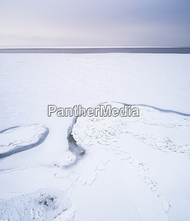 abstract aerial view of the frozen