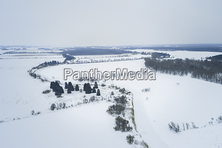 aerial view of nordic landscape with