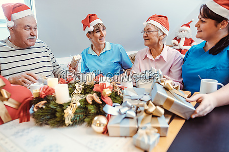 christmas with presents in the nursing