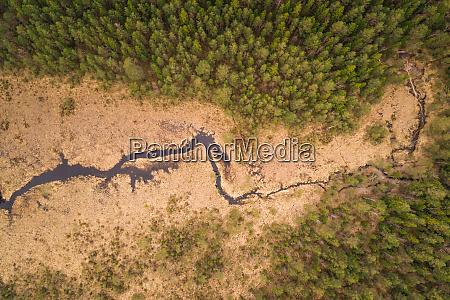 aerial view of valgejarv lake and