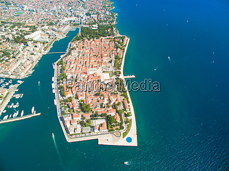 aerial view of zadar in croatia