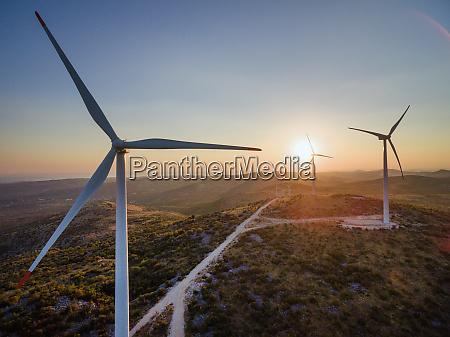 aerial view of jelinak windmill farm
