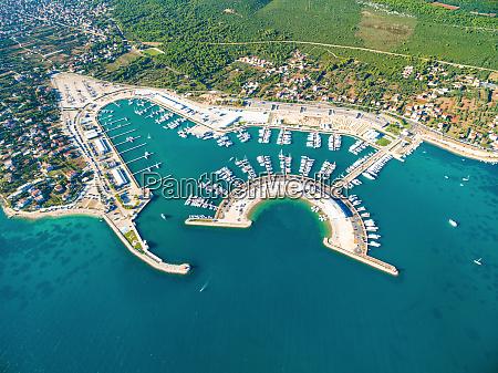 aerial view of sukosan marina near
