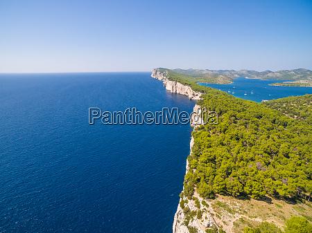 aerial view of national park telascica