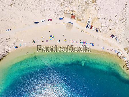 aerial view of people enjoying at