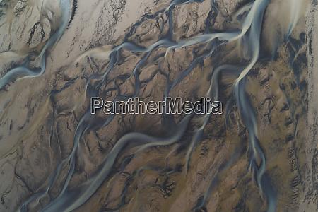 aerial view of melgraseyri river