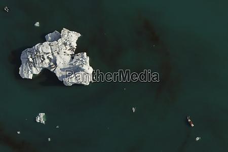 aerial view of joekulsarlon boat tour