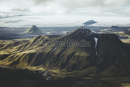 aerial view of mountain at the