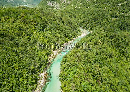aerial view of the soca river