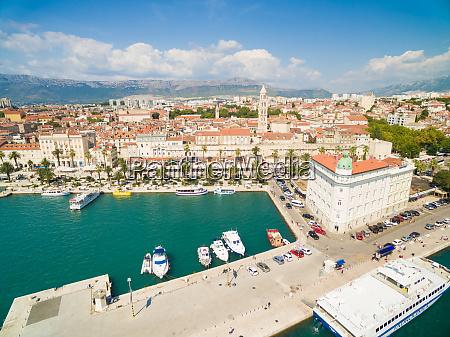 aerial view of riva promenade diocletians
