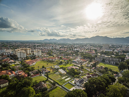 aerial view of ipho cityscape during