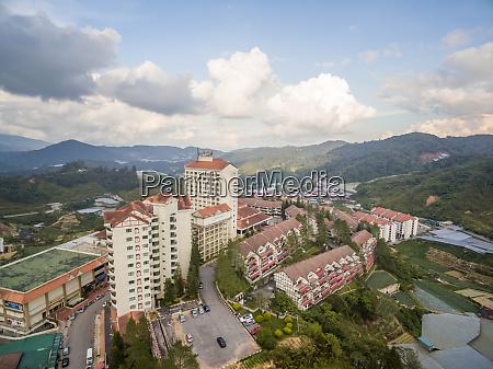 aerial view of brinchang city surrounding