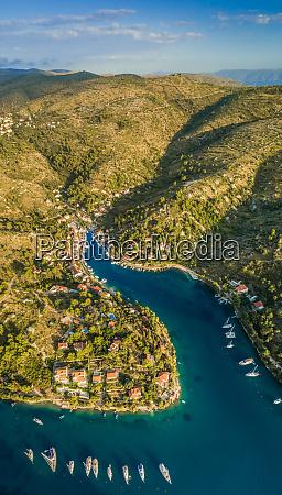 aerial panoramic view of bobovisce town