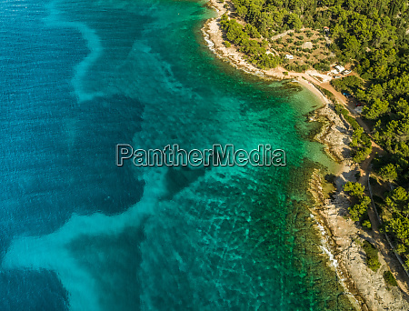 aerial view of adriatic sea and