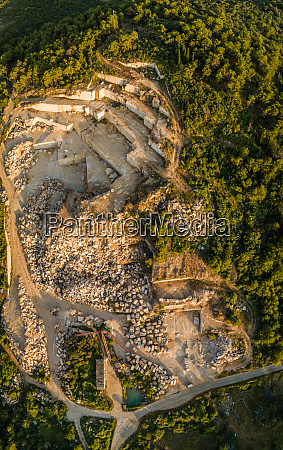 aerial view of quarry white famous