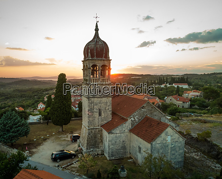 aerial view of saint fabijan and
