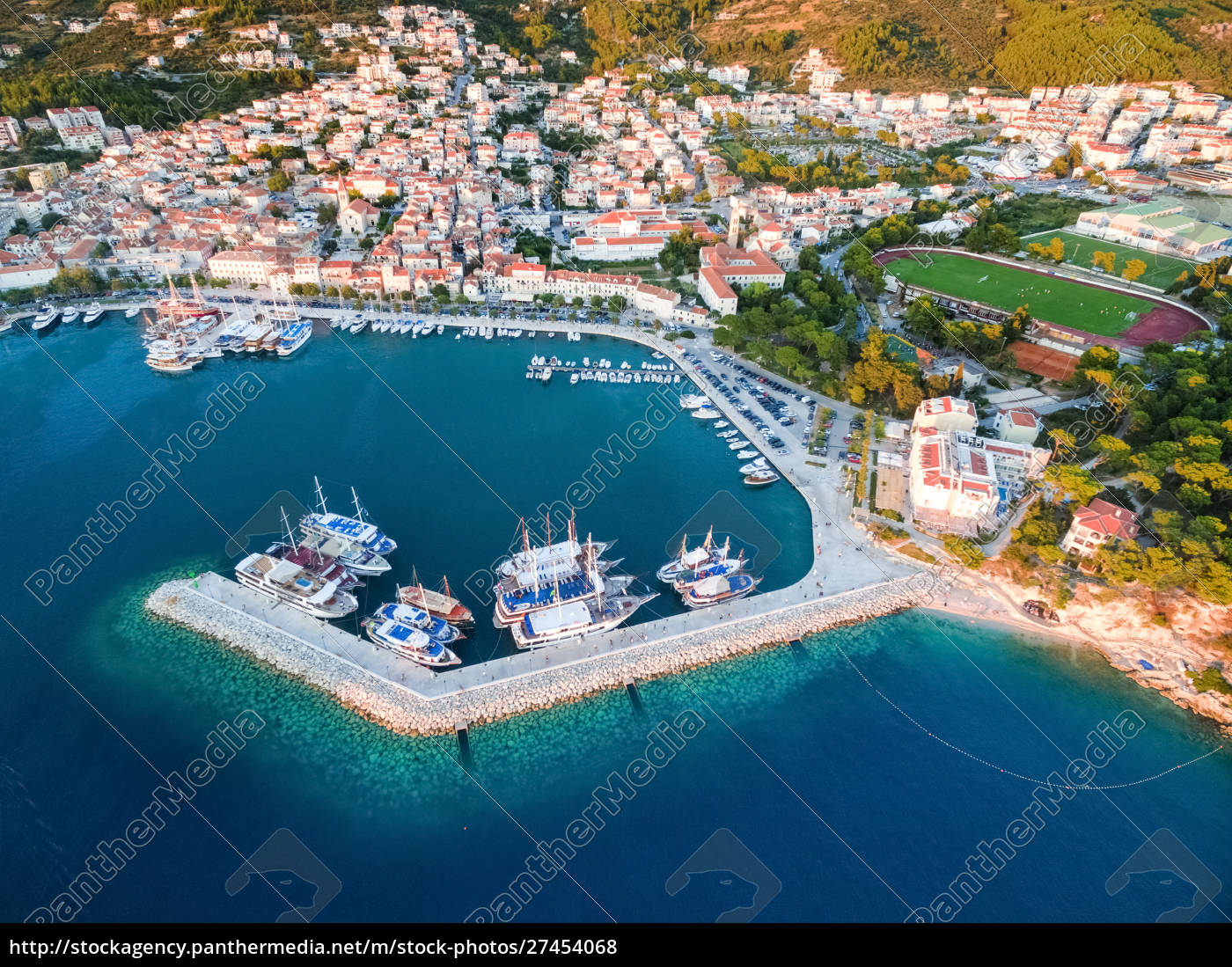 aerial, view, on, makarska, and, marina - 27454068