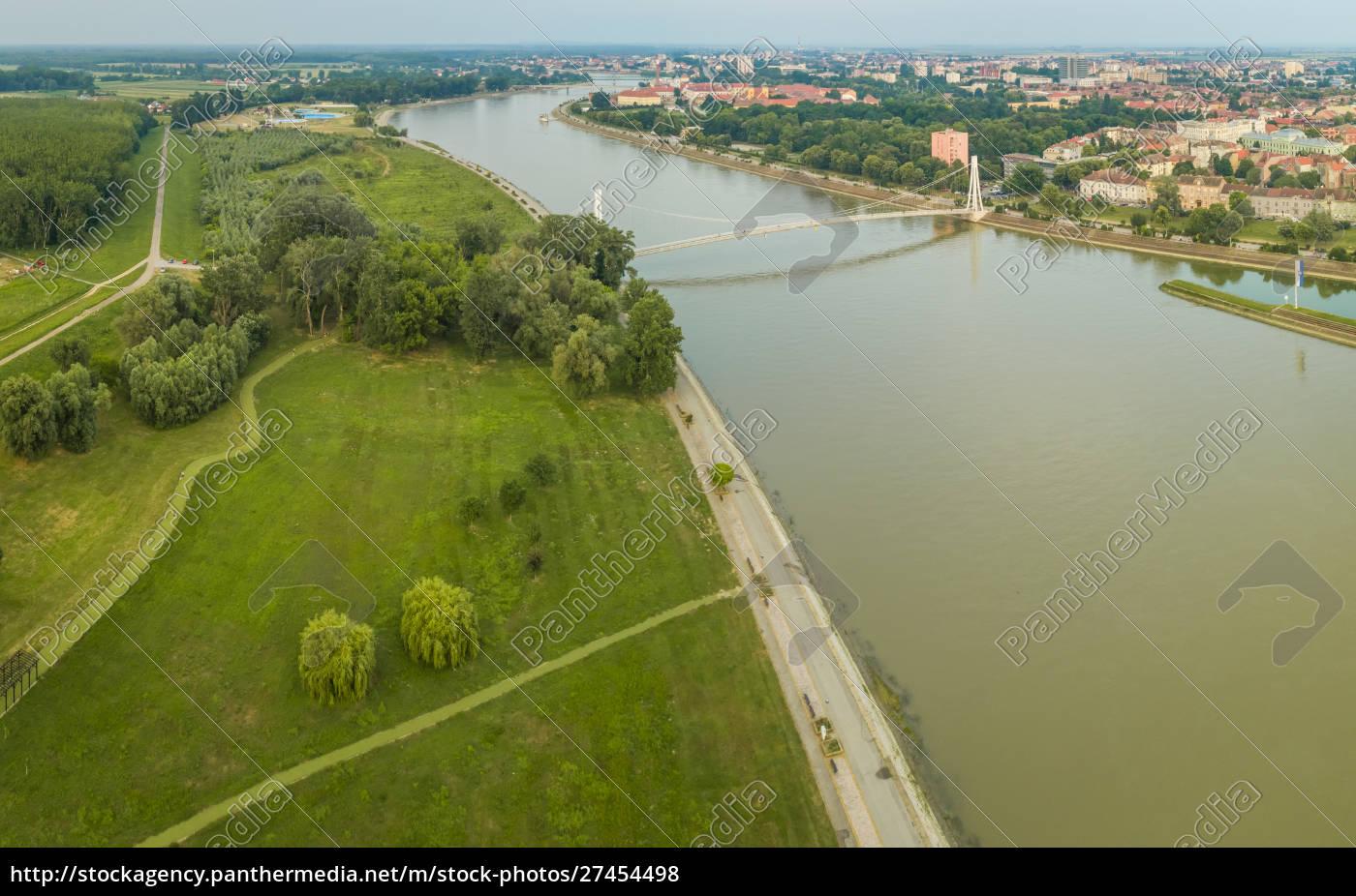 panoramic, aerial, view, of, osijek, and - 27454498