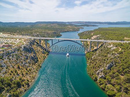motorway bridge over krka river with
