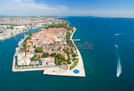 aerial view of zadar in croatia