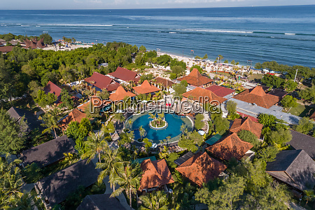 aerial view of vacation resort with