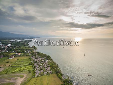 aerial view of puri bagus lovina