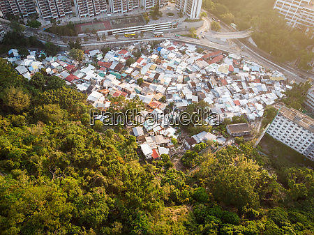 aerial view of pokfulam village pokfulam