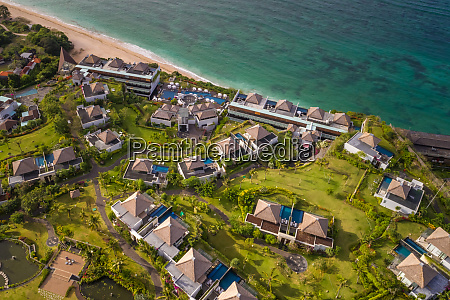 aerial view of luxurious samabe bali