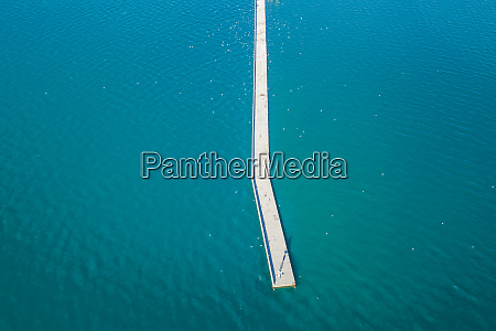 aerial view of an harbour pontoon