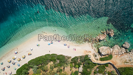 aerial view of a beach on