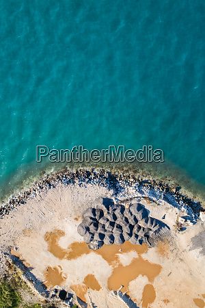 aerial view of public works on