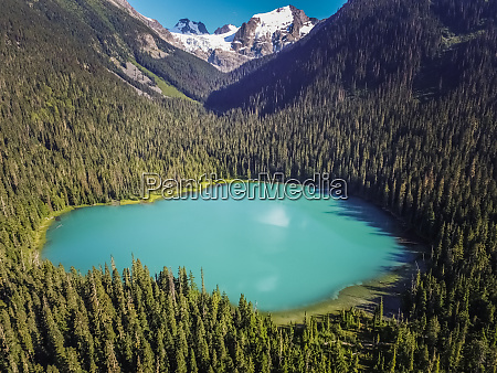 aerial view of lower joffre lake