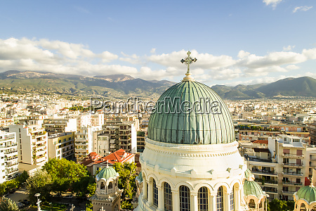 aerial view of the dome of