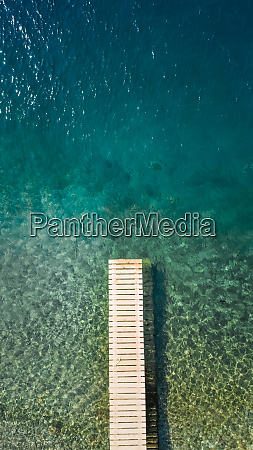 aerial view of a pontoon in