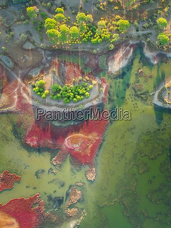 aerial view of kalogria lagoon lagoon