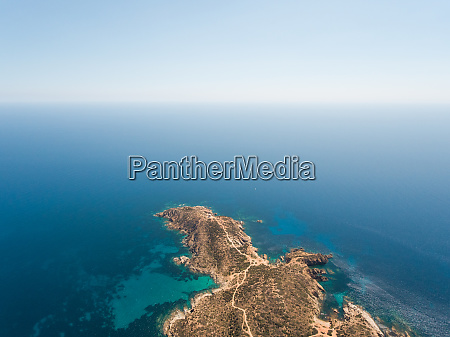 aerial view of malfatano cape in