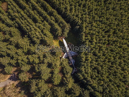 aerial view of airplane home in
