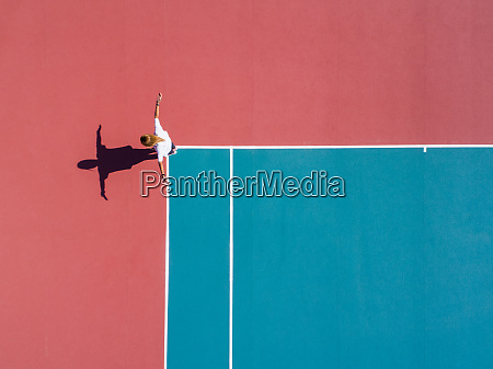 aerial photography of a person on